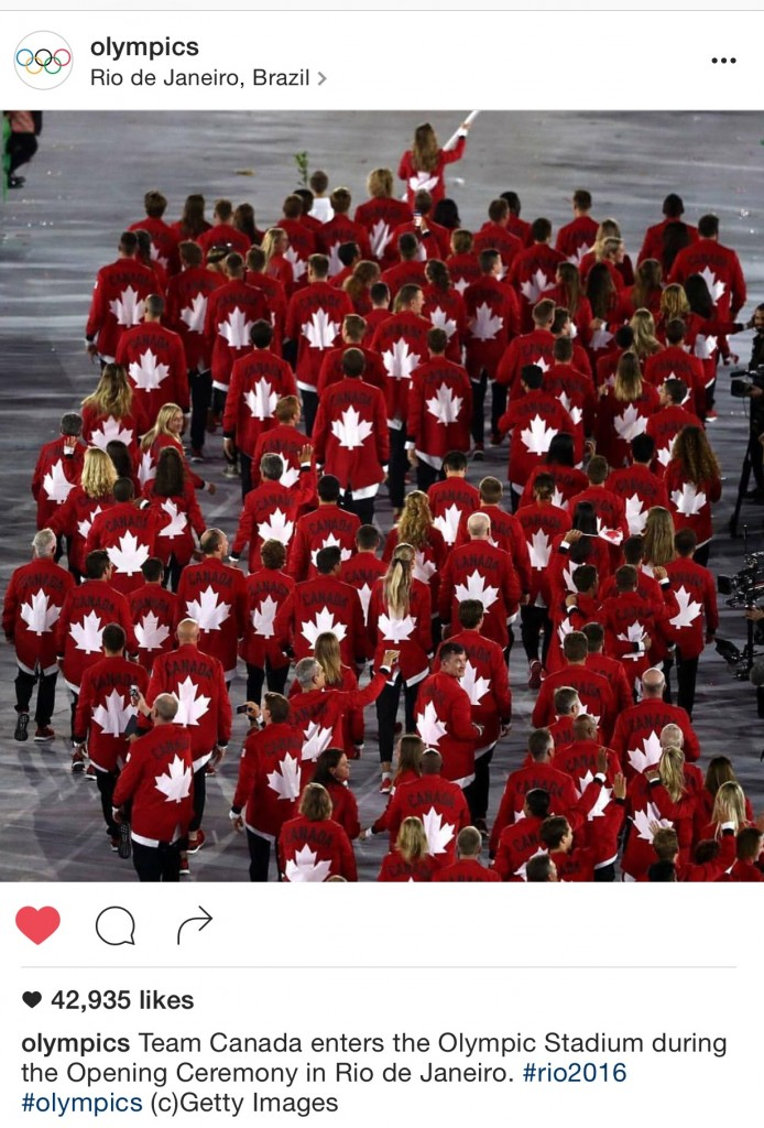 Team Canada Opening Ceremony Rio 2016